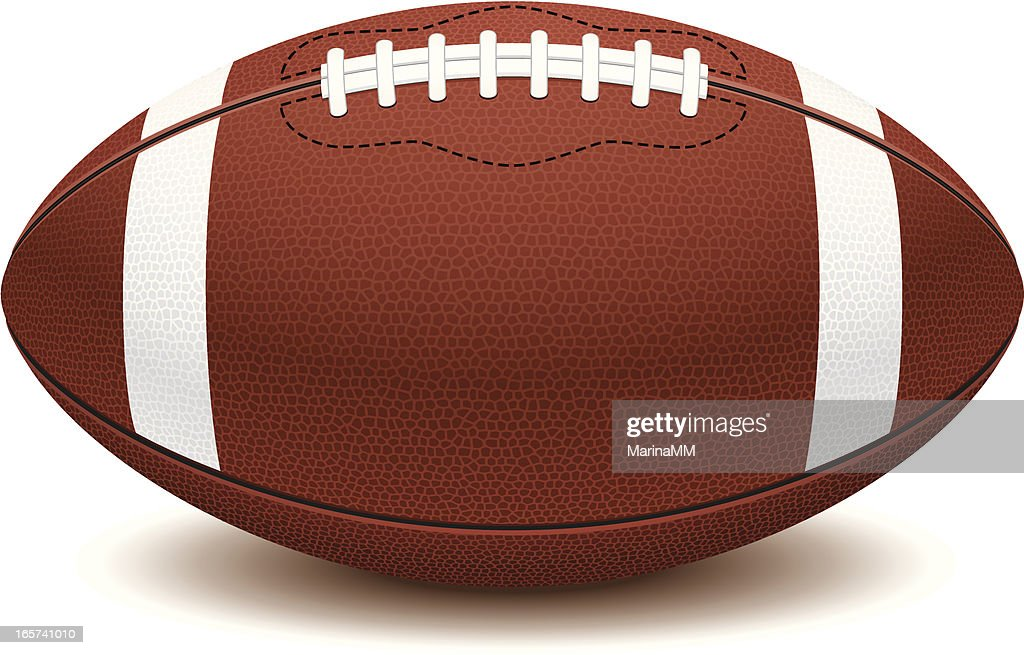 Picture of American football ball on white background  : stock illustration