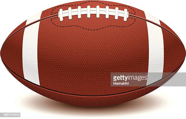Picture of American football ball on white background