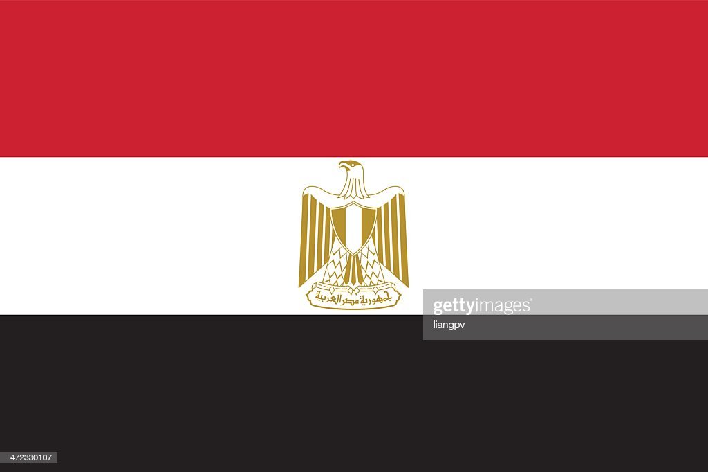 Picture of the state flag of Egypt