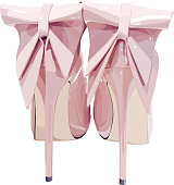 picture of women high heel shoes on white background, vector