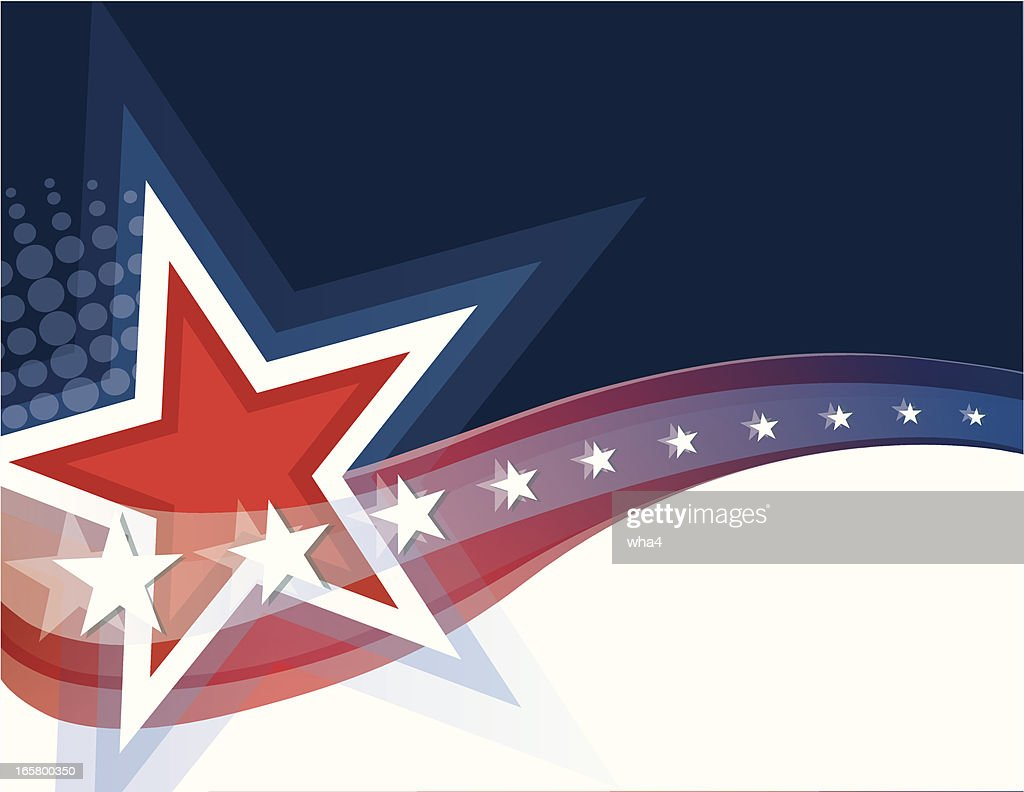 A picture showing red, white, and blue stars and stripes  : stock illustration