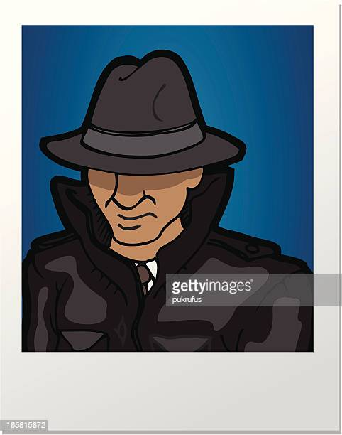 picture spy - obscured face stock illustrations, clip art, cartoons, & icons
