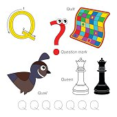 Pictures for letter Q