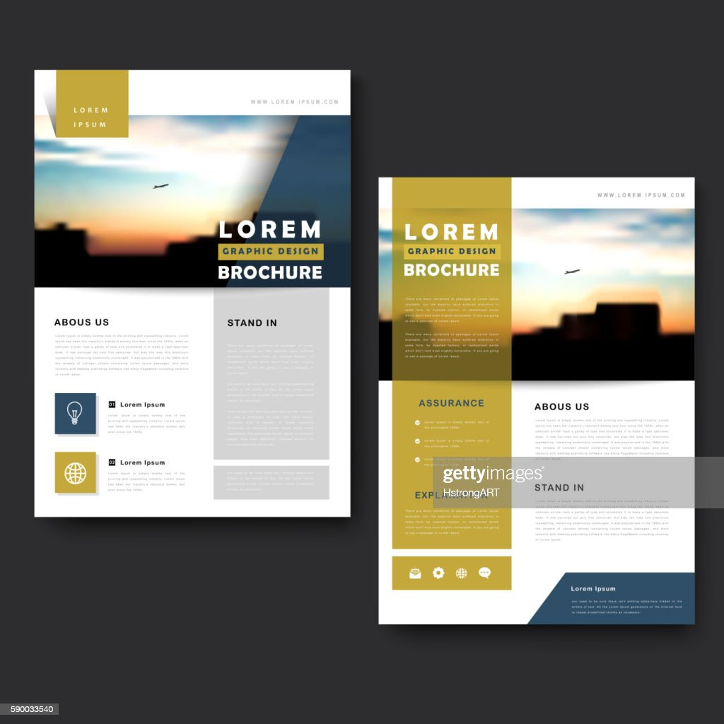 Picturesque brochure template