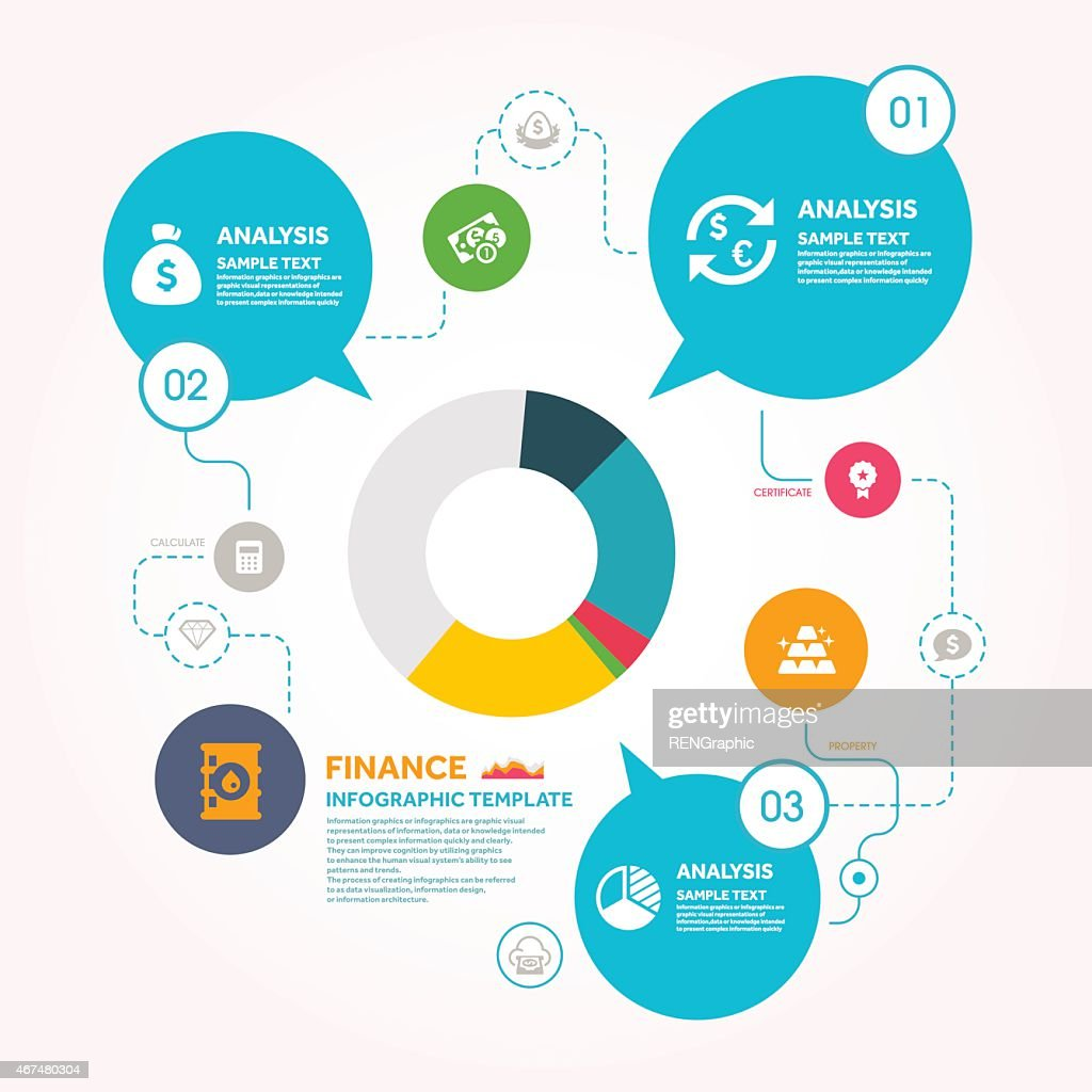pie chart and finance infographic template vector art getty images