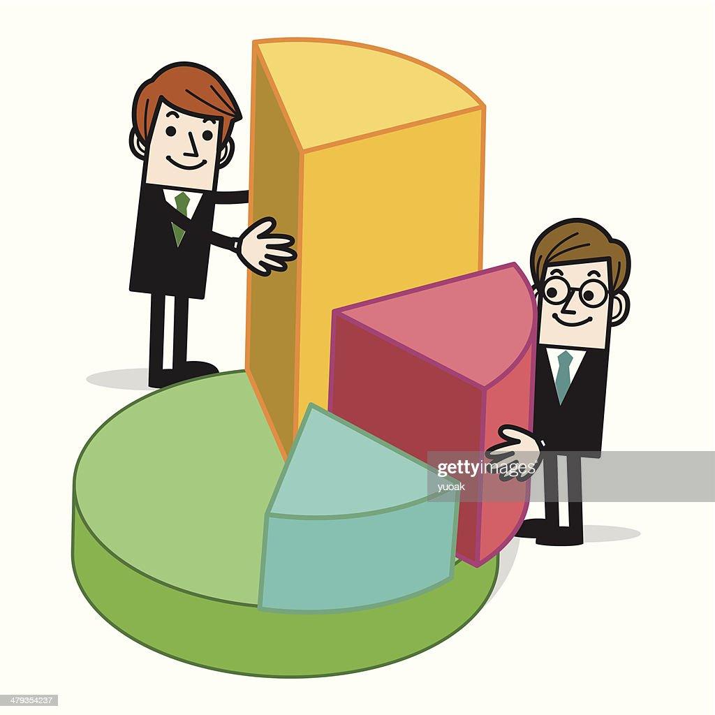Pie Chart Builders Vector Art Getty Images