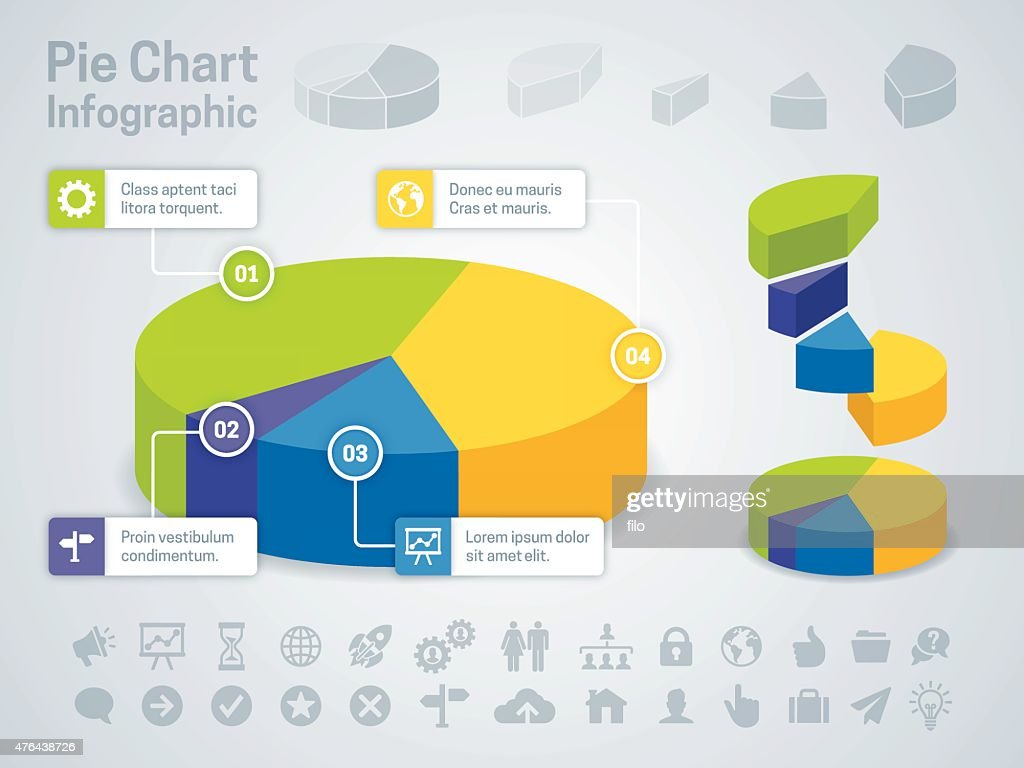 Tortengrafik Business Infographic : Stock-Illustration