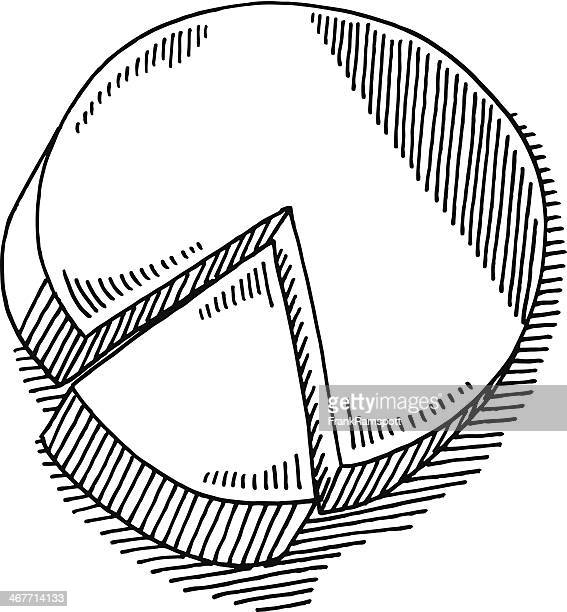 pie chart drawing - serving size stock illustrations, clip art, cartoons, & icons