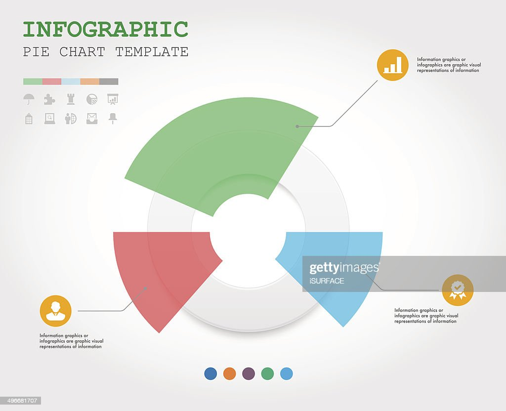 Pie Chart Graphic Template For Business Vector Art Getty Images