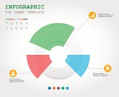 Pie chart graphic template for business