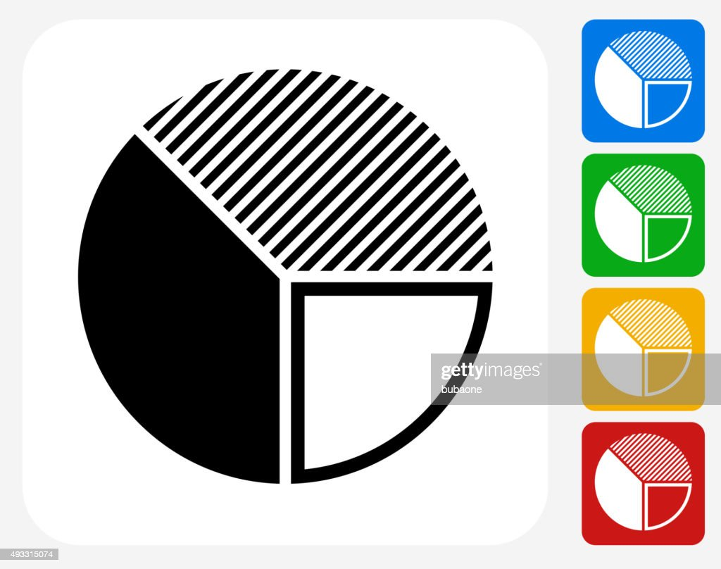 Pie Chart Icon Flat Graphic Design : stock illustration
