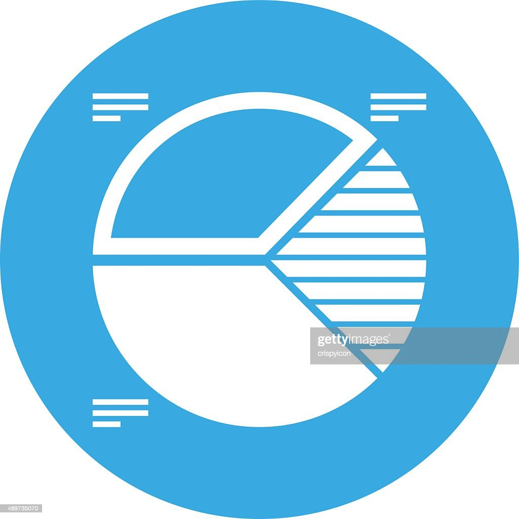 Pie Chart Icon On A Round Button Round Series Vector Art Getty Images