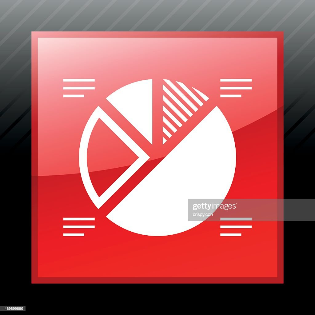 Pie Chart Icon On A Square Button Sleek Series Vector Art Getty Images
