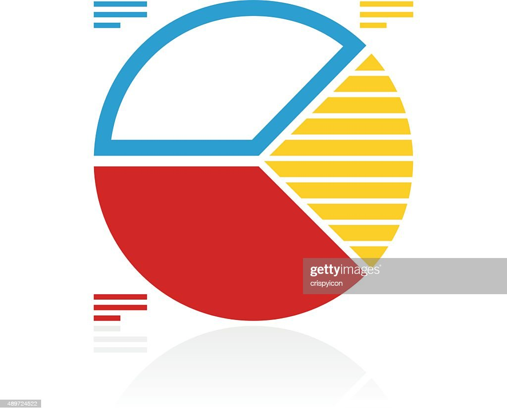 Pie Chart Icon On A White Background Color Series Vector Art Getty