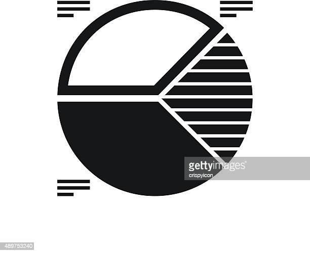 Gráfico circular do ícone sobre um fundo branco. uma série