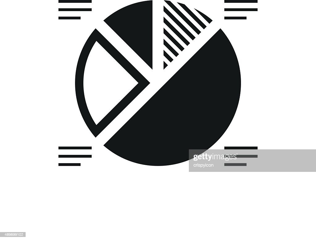 Pie Chart Icon On A White Background Single Series Vector Art