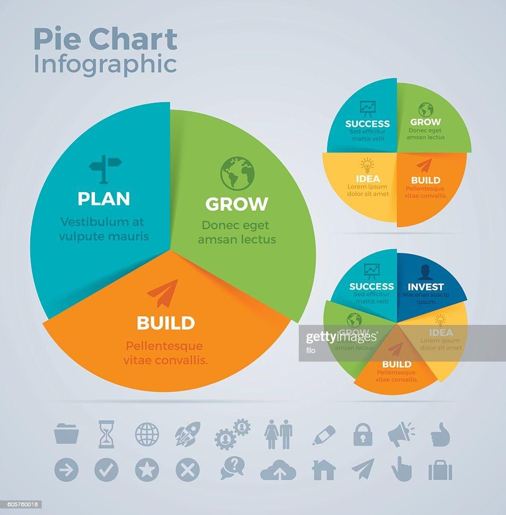 Tortengrafik Infografik : Stock-Illustration