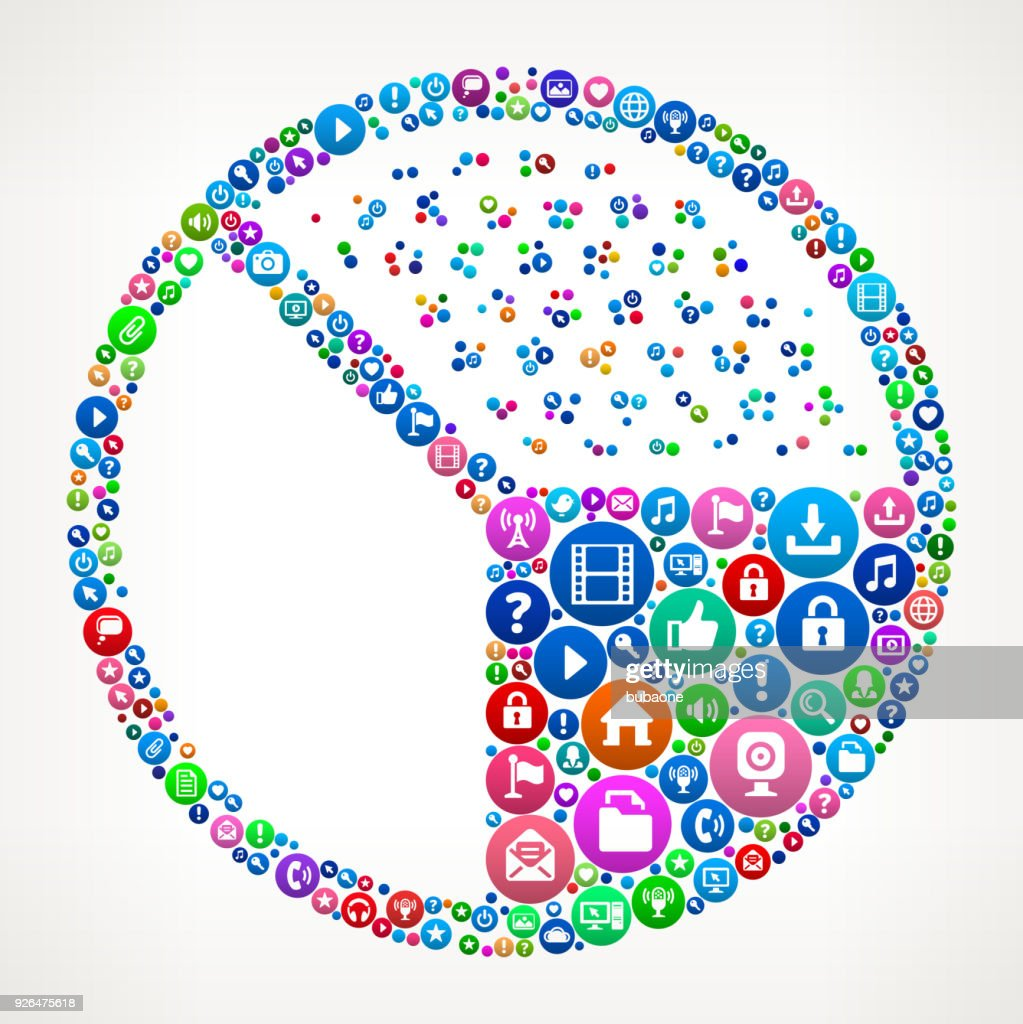 Pie chart internet communication technology icon pattern vector art pie chart internet communication technology icon pattern geenschuldenfo Gallery