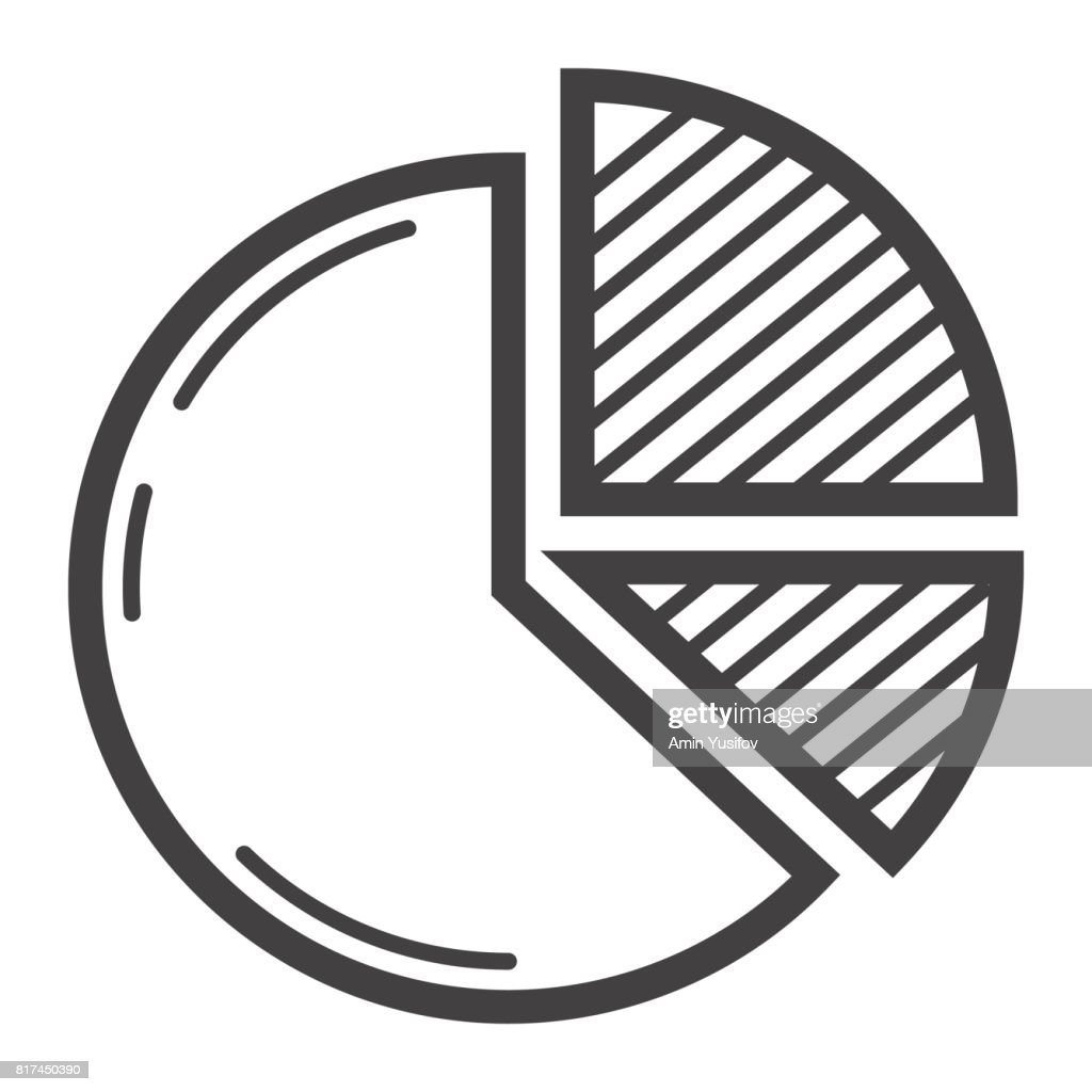 Pie Chart line icon, business and diagram, vector graphics, a linear pattern on a white background, eps 10.
