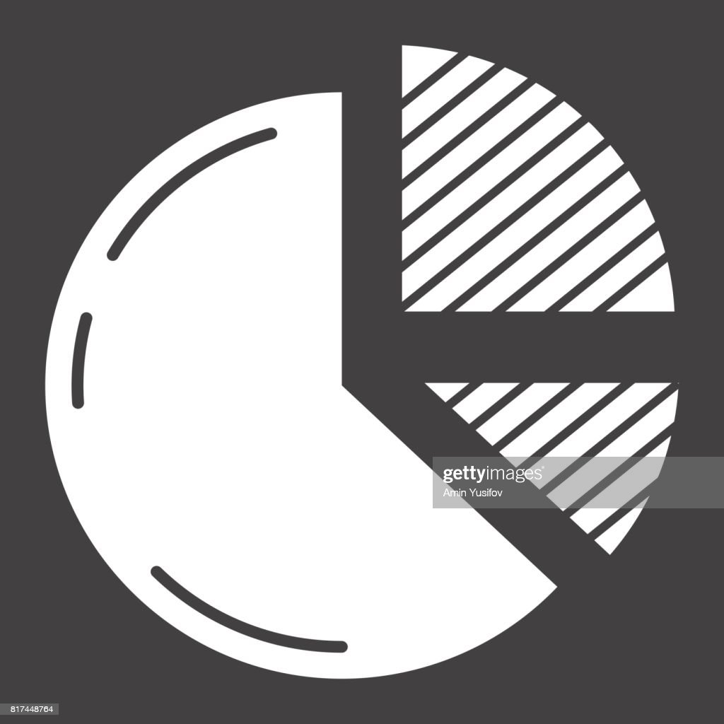Pie Chart solid icon, business and diagram, vector graphics, a glyph pattern on a black background, eps 10.