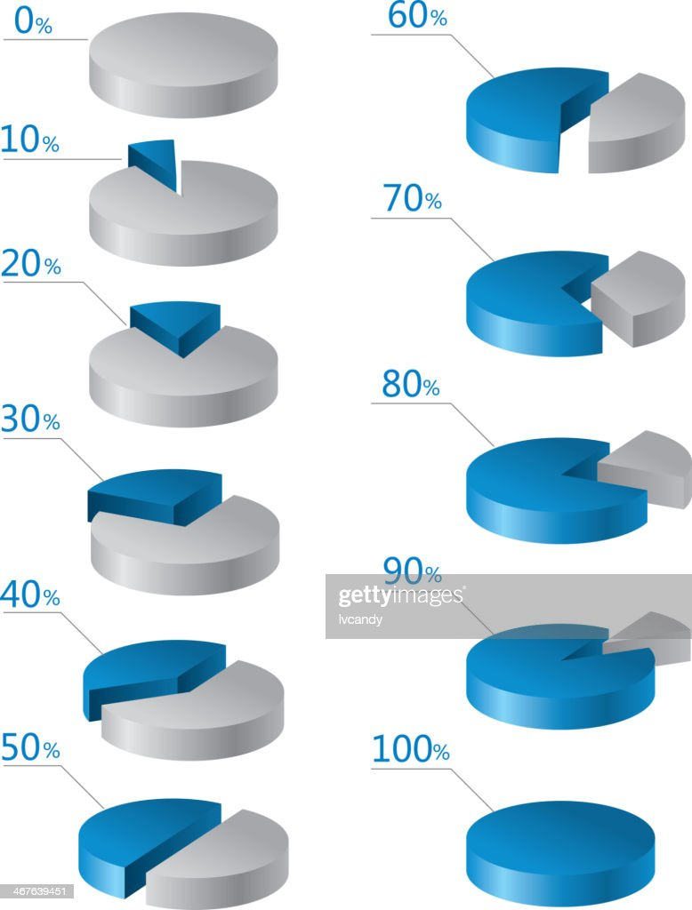 Pie chart : stock illustration