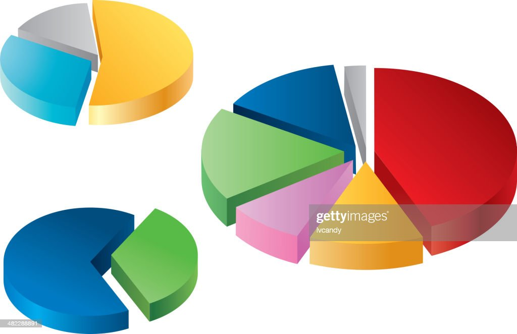 Pie chart : stock illustration