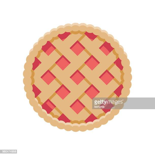 pie flat design dessert icon - pastry lattice stock illustrations, clip art, cartoons, & icons