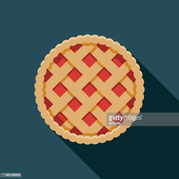 pie holiday food icon - dessert stock illustrations
