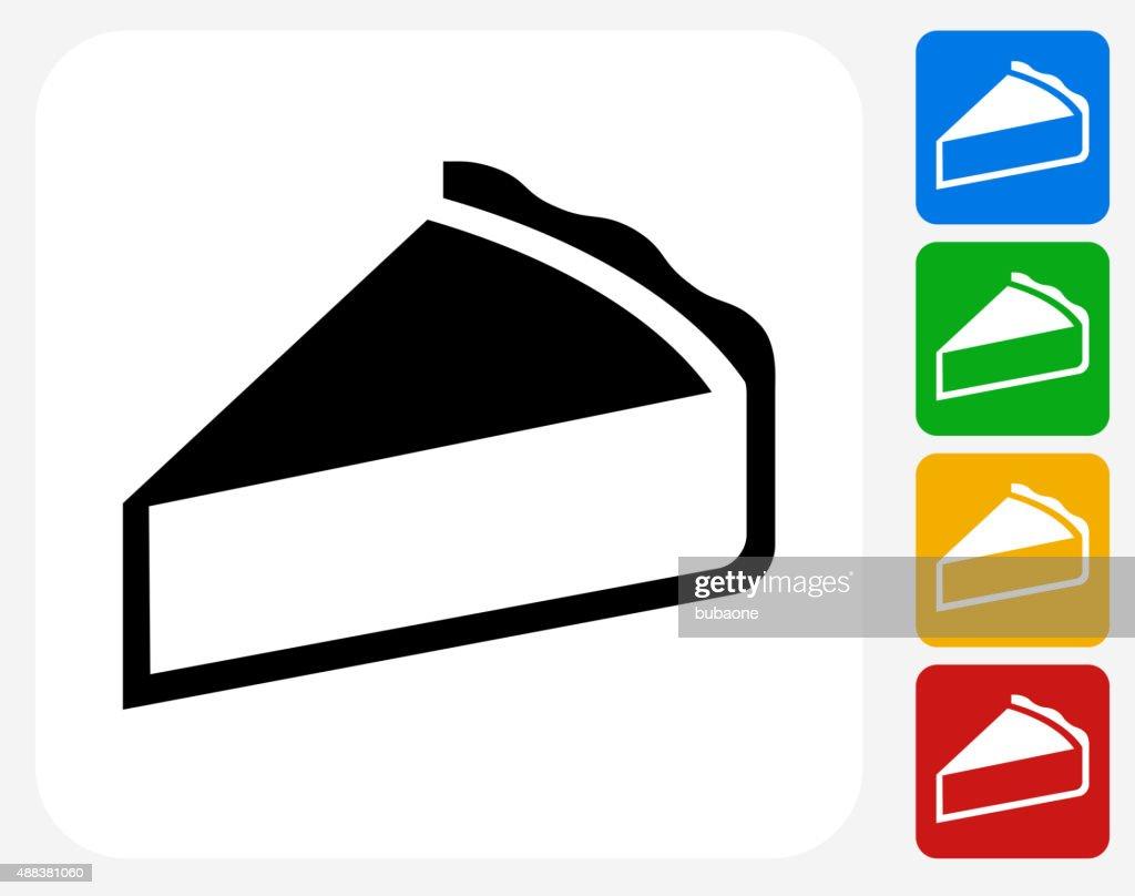 Pie Icon Flat Graphic Design : stock illustration