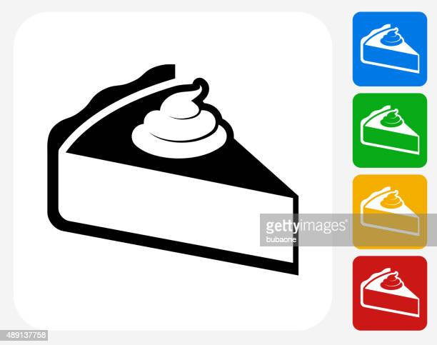 Pie Icon Flat Graphic Design
