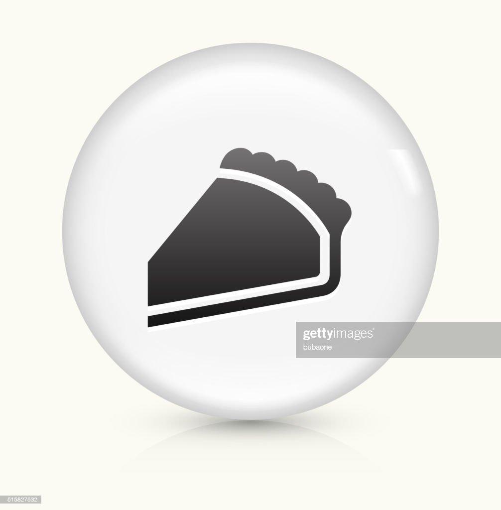 Pie icon on white round vector button : stock illustration