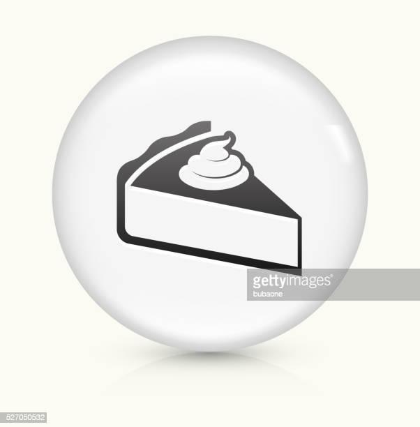 Pie icon on white round vector button