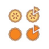 Pie icons set