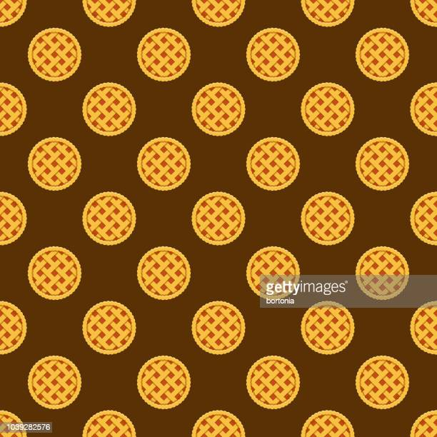 pie seamless pattern - pastry lattice stock illustrations, clip art, cartoons, & icons