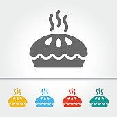 Pie Single Icon Vector Illustration