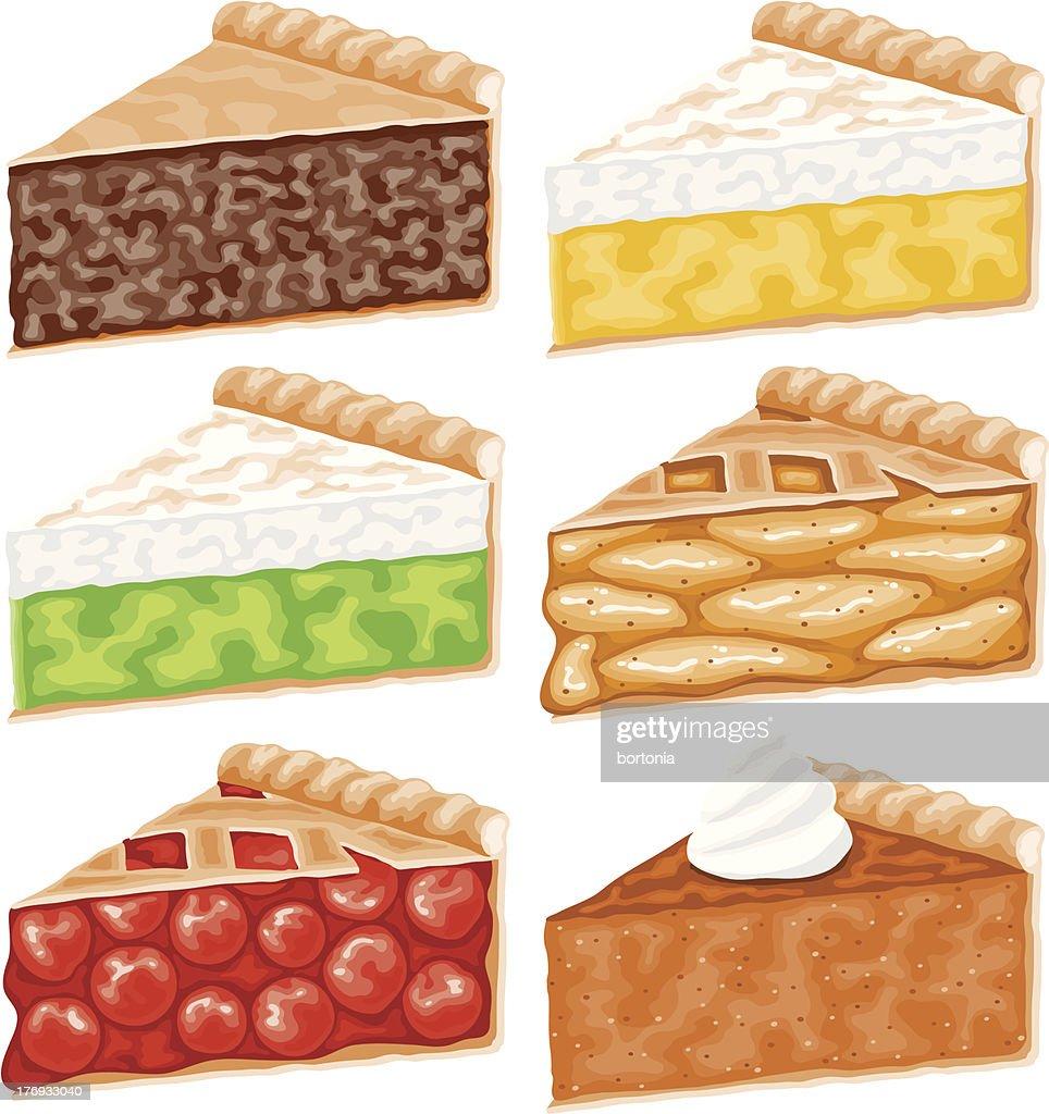 Pie Slices Icon Set : stock illustration