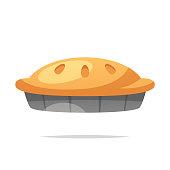 Pie vector isolated