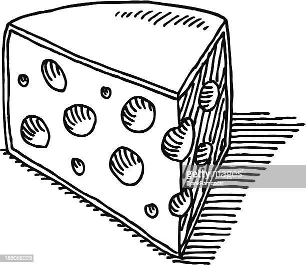 Stück Käse-Zeichnung