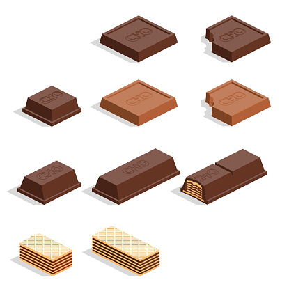 pieces of chocolate - gettyimageskorea