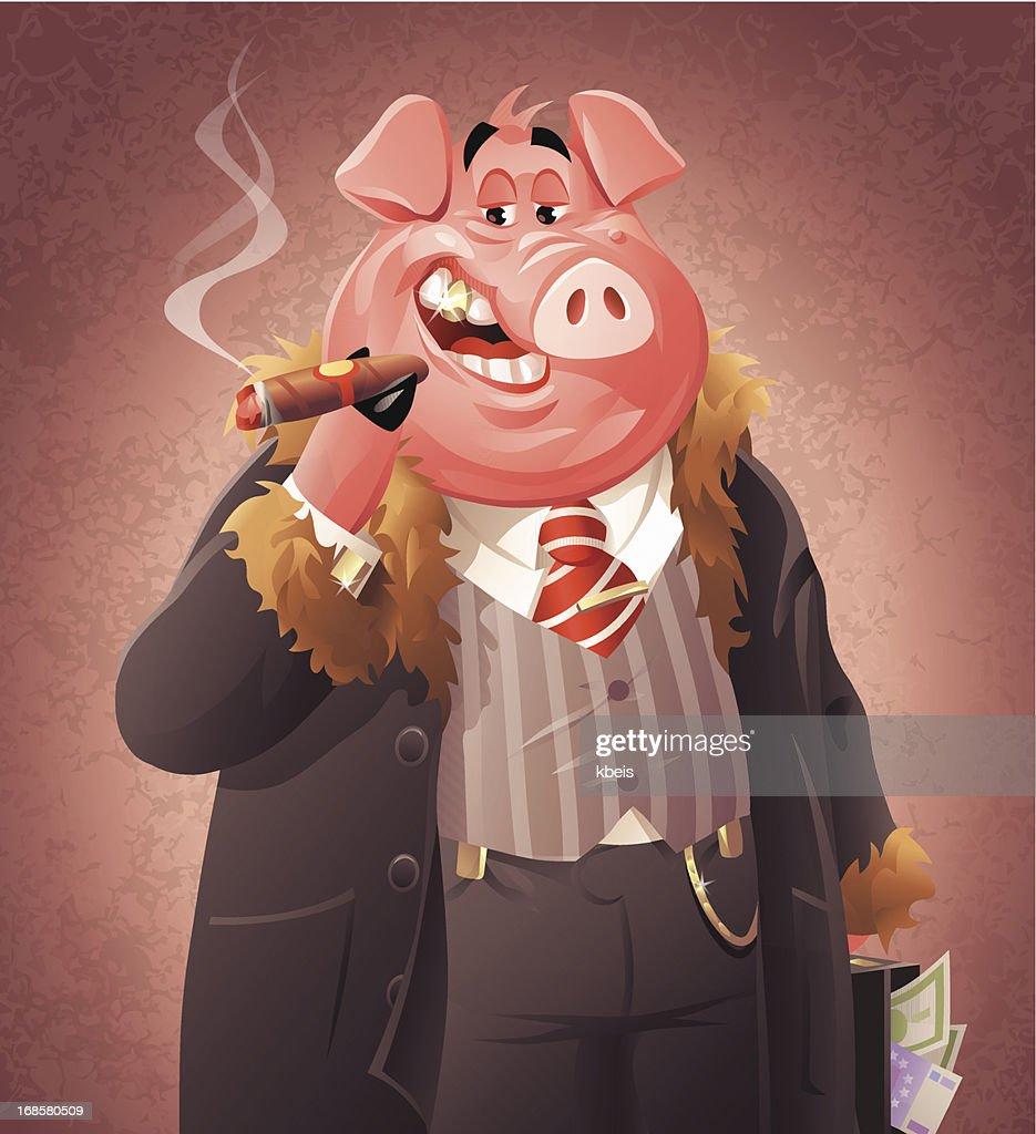 Pig Business : stock illustration