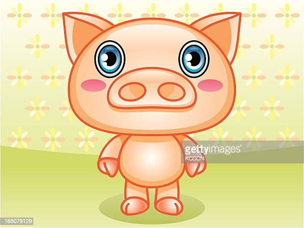 pig carton - northeastern england stock illustrations, clip art, cartoons, & icons