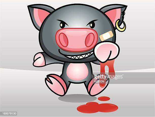 pig cartoon - northeastern england stock illustrations, clip art, cartoons, & icons