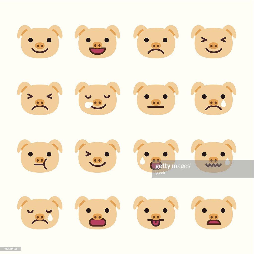 Pig Emoticons
