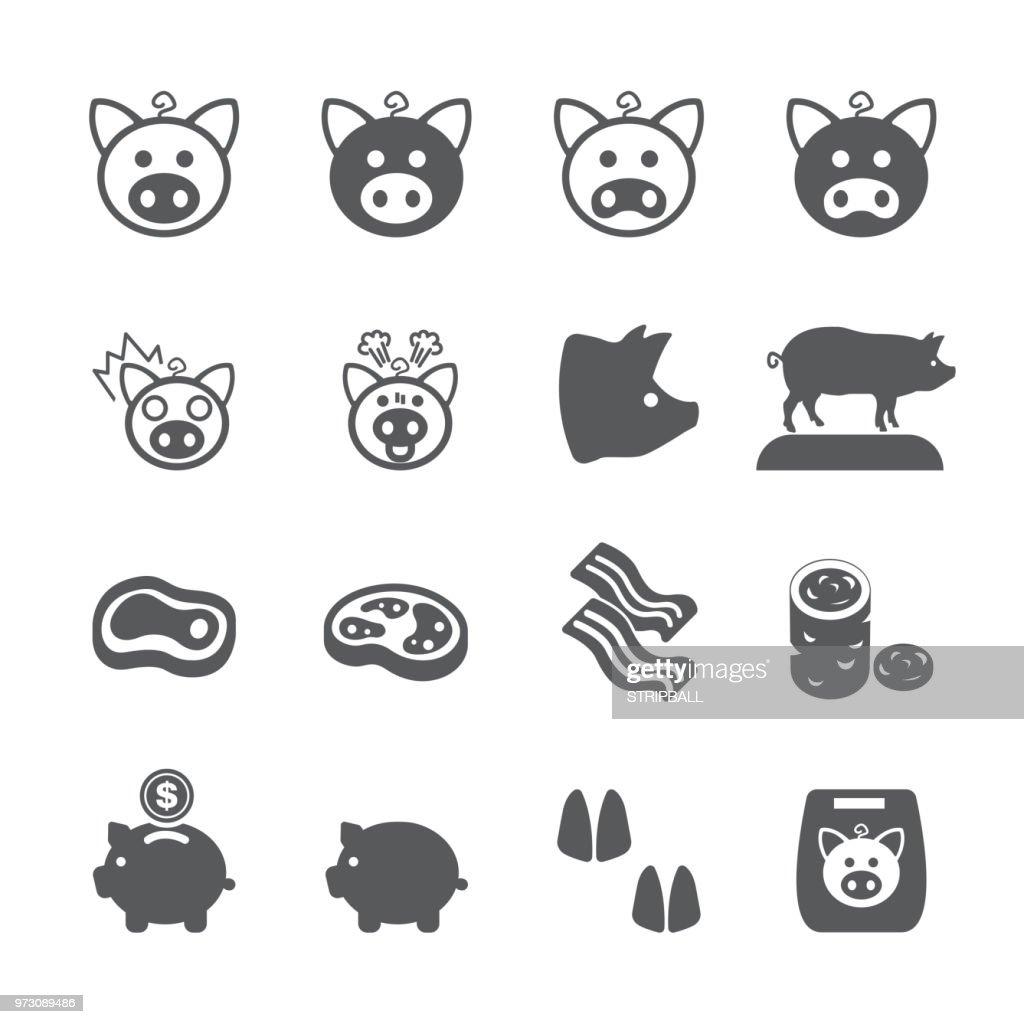 Pig icon set