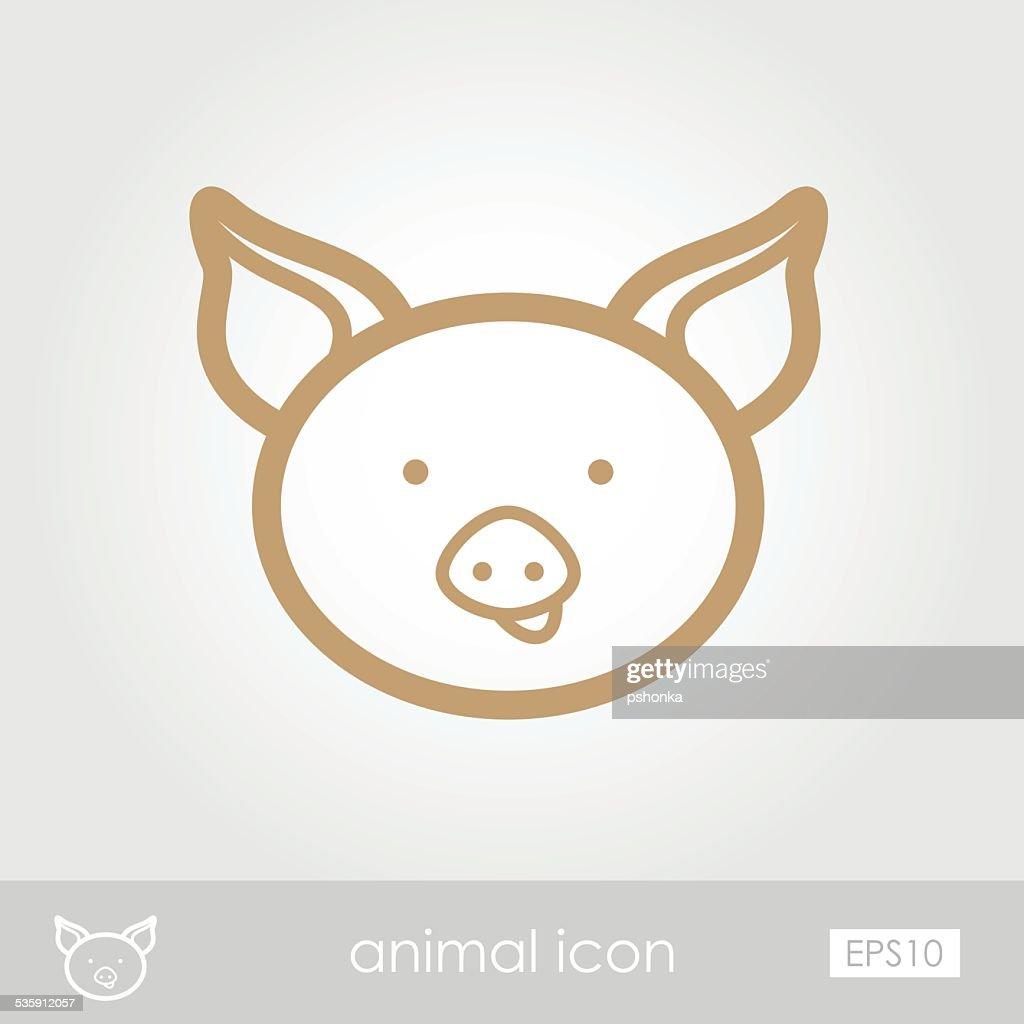 Ícone de Porco : Arte vetorial