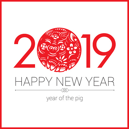 Pig paper-cut, Year of the Pig, 2019, Chinese New Year, Lunar New Year - gettyimageskorea