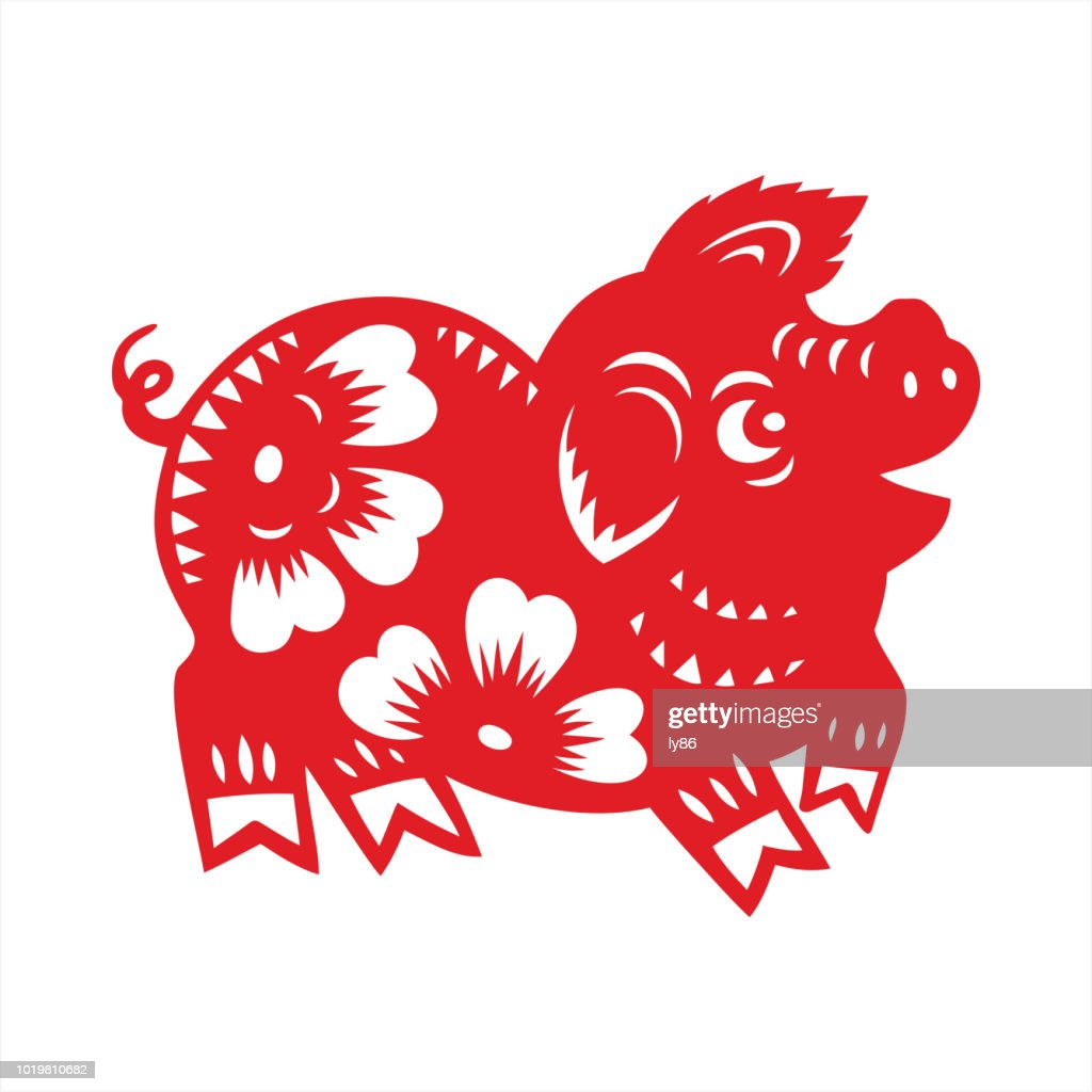 pig paper cut year of the pig 2019 chinese new year