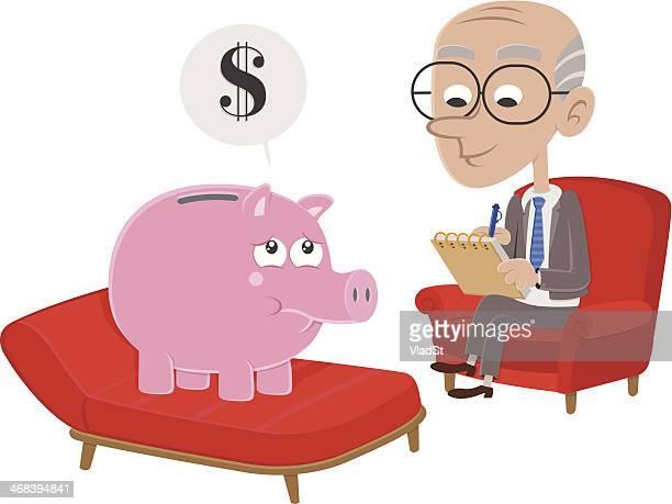 Piggy bank goes to psychiatrist