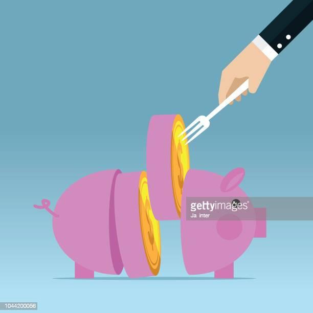 ilustrações, clipart, desenhos animados e ícones de piggy bank  - parte de