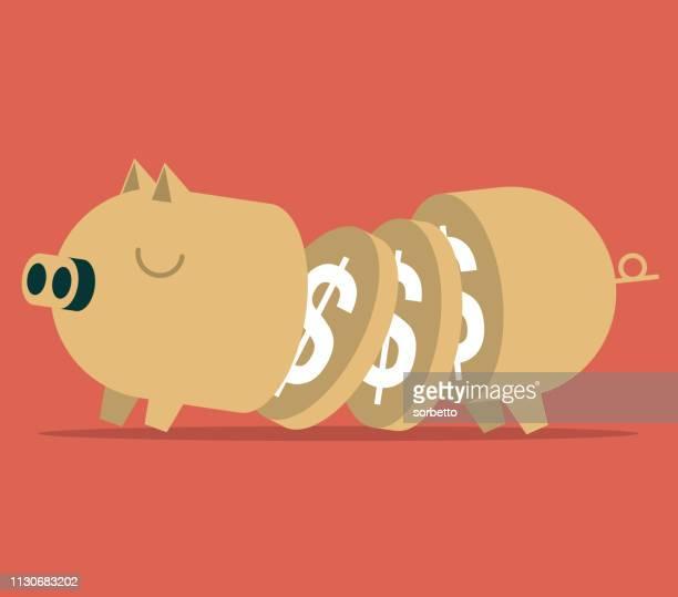 ilustraciones, imágenes clip art, dibujos animados e iconos de stock de piggy bank - charity benefit
